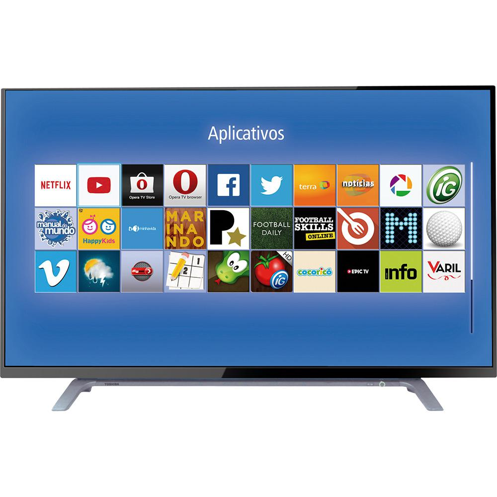 ddfc0323b9c Smart TV LED 40″ Toshiba 40L2500 Full HD com Conversor Digital 2 HDMI 1 USB  Wi-Fi 60Hz – Móveis Garcia Digital
